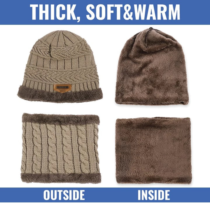 Winter Beanie & Scarf Combo Set