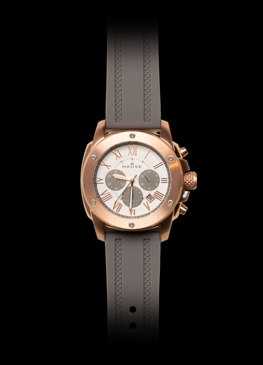 Hauve grey and rose gold Carnaby Watch