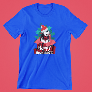 Load image into Gallery viewer, Happy Howlidays Husky Tee - LV Strip Tees