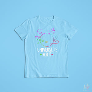 Load image into Gallery viewer, Universe is Art Astro Tee - LV Strip Tees