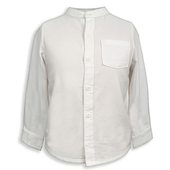 Edward Mandarin Collar Long Sleeve Shirt