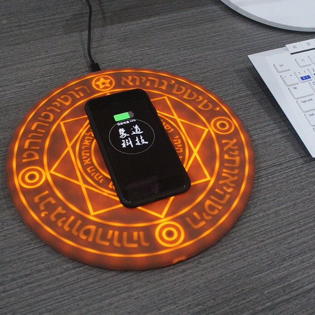New Arrival Magic Array Wireless Charger Universal Qi Wireless Fast Charger Charging Pad for some Mobile Phone 5W/10W