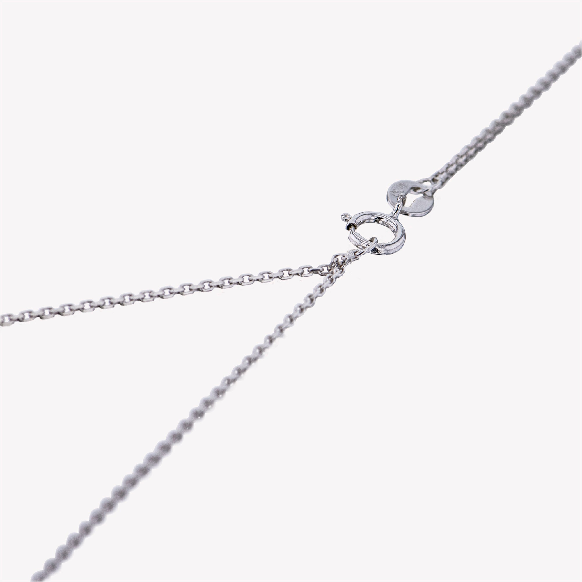 18K W/G Sagittarius Diamond Pendant With Chain