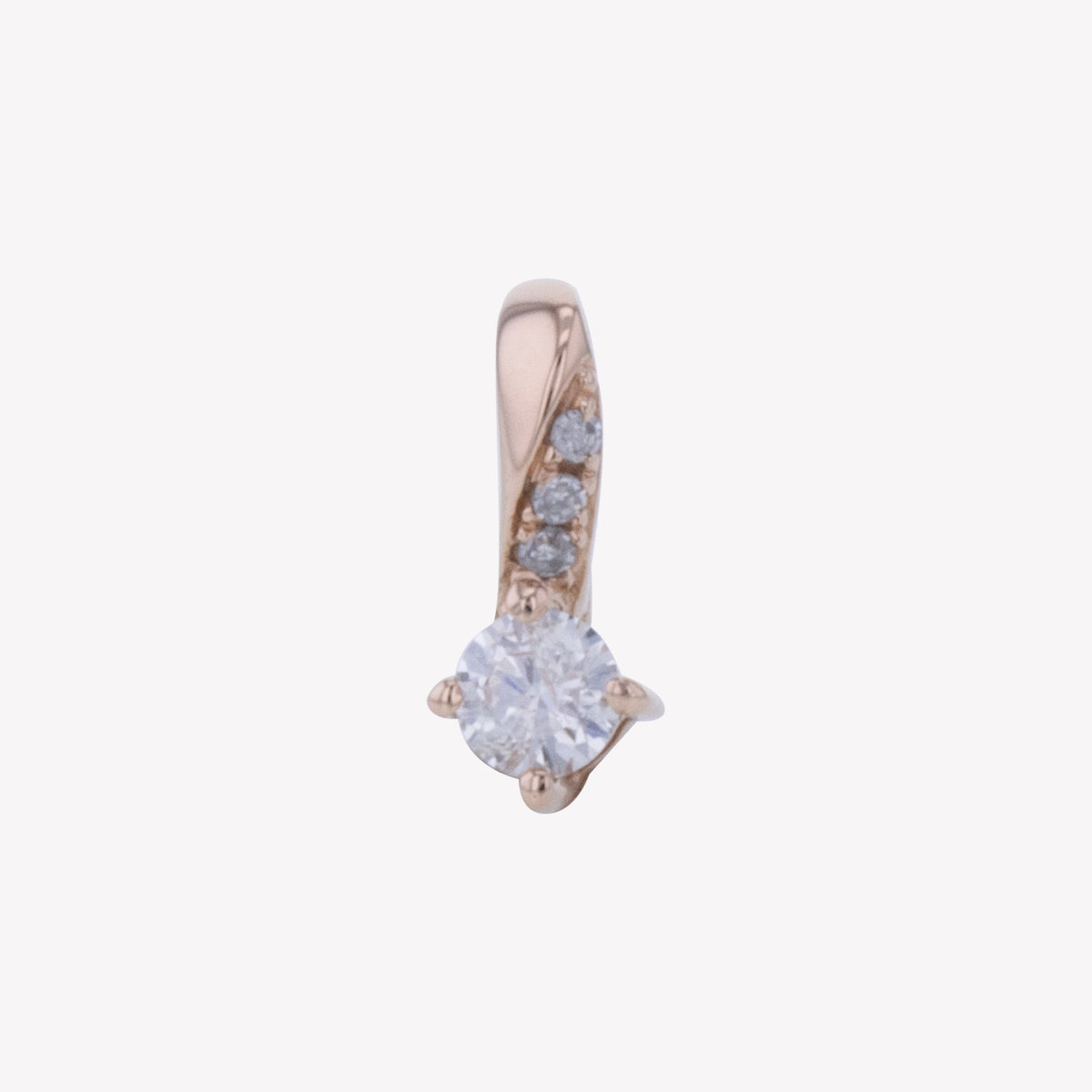 18K R/G Diamond Pendant