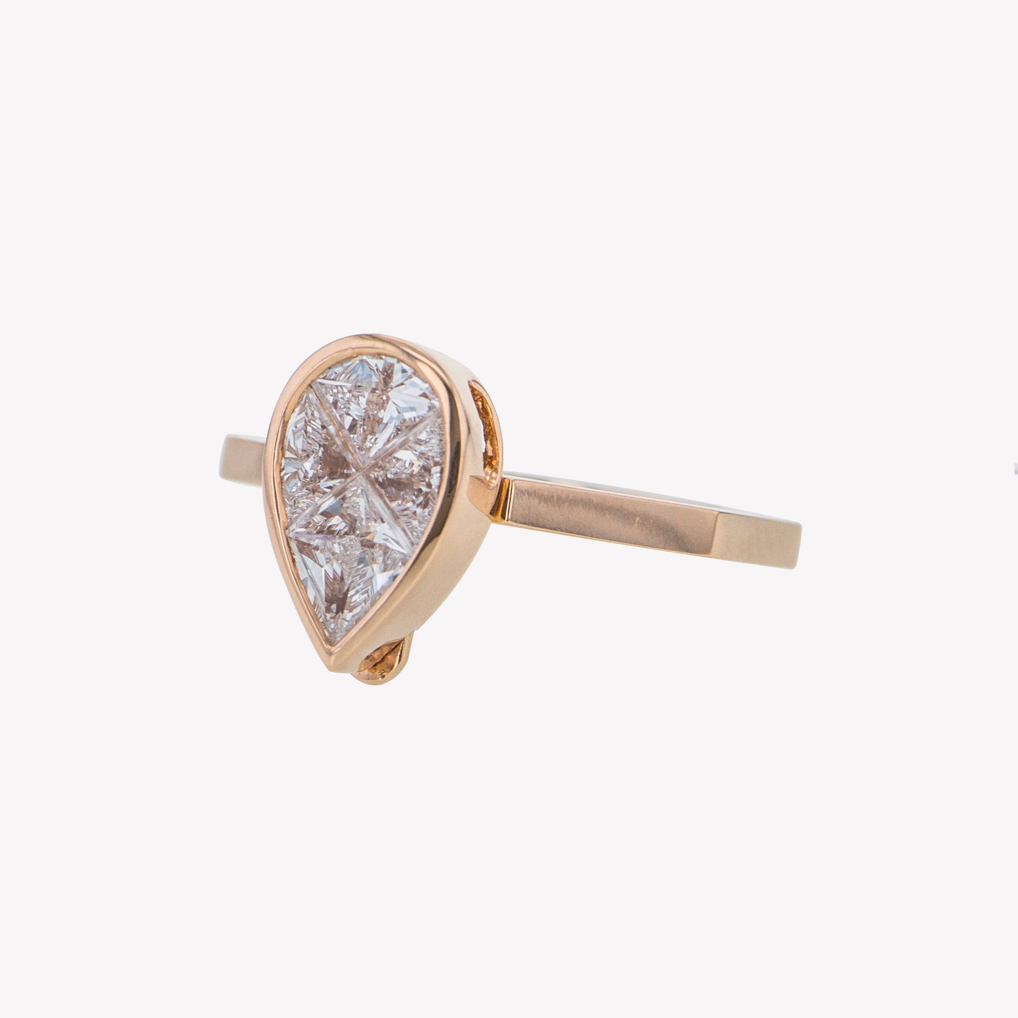 Detachable Rose Gold Pear Head with Octa Band