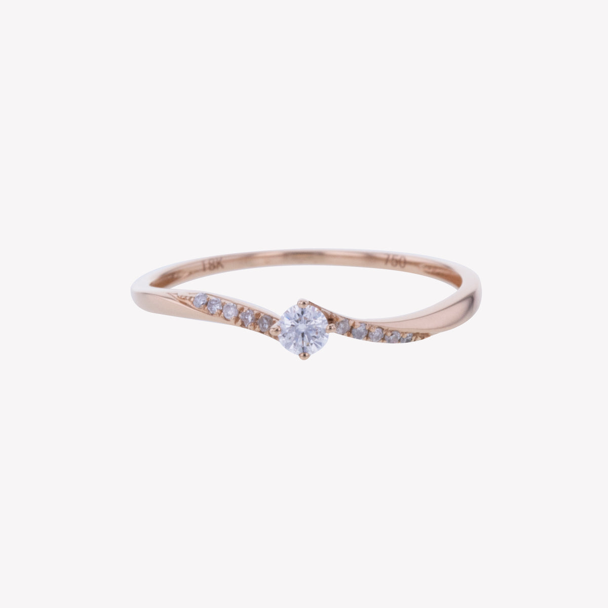 18K R/G Diamond Ring