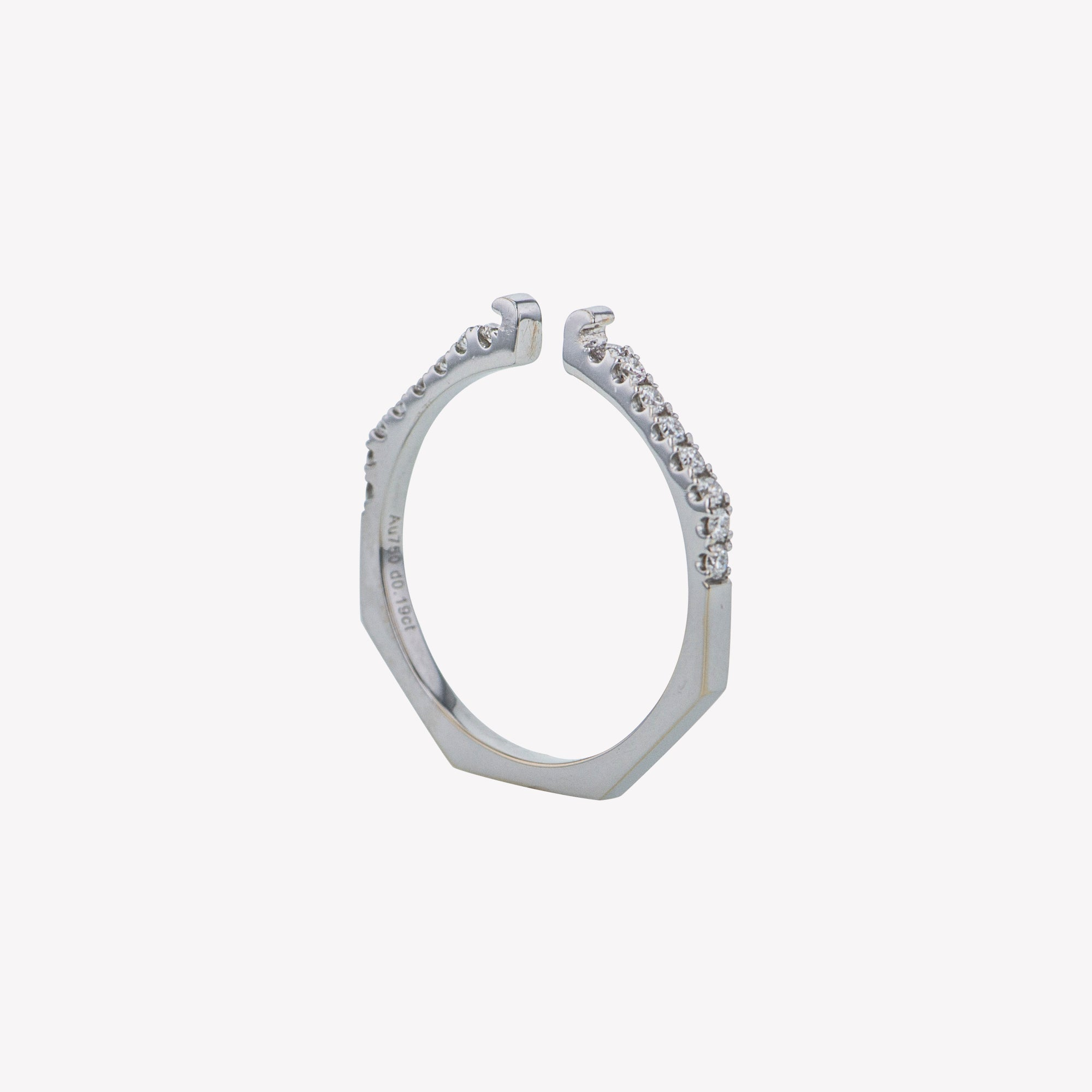 White Gold Octa Diamond Clip Band