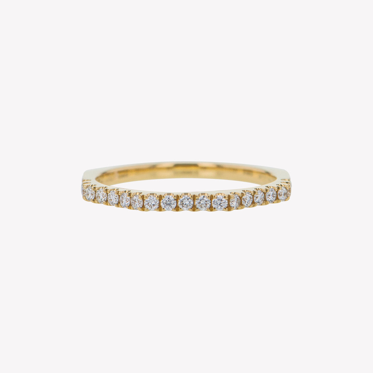 Yellow Gold Octa Diamond Stack Band