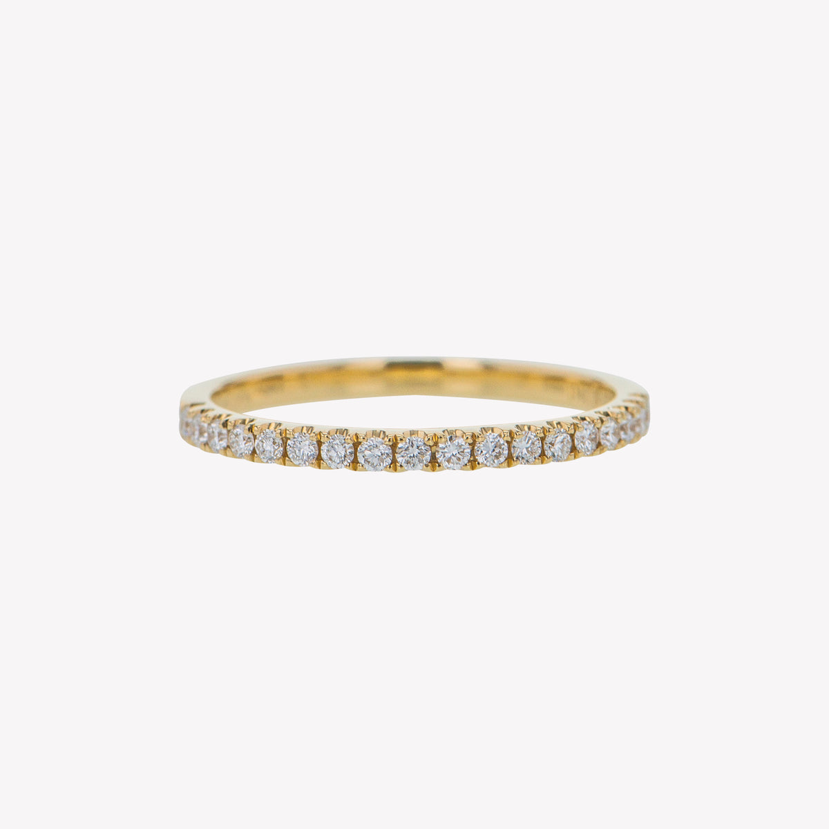 Yellow Gold Round Diamond Stack Band