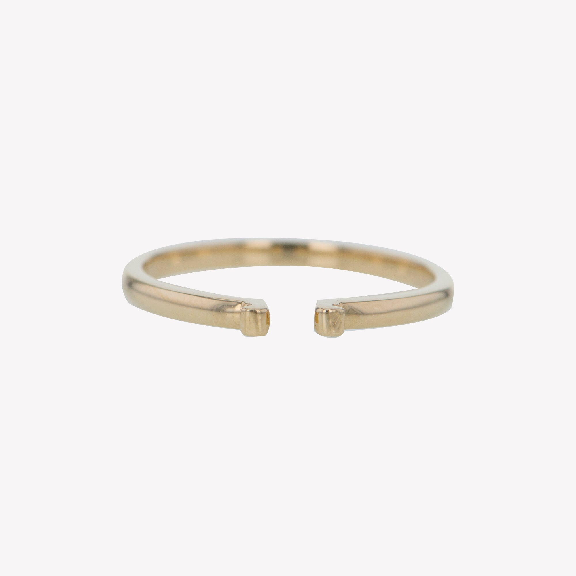 Yellow Gold Round Clip Band