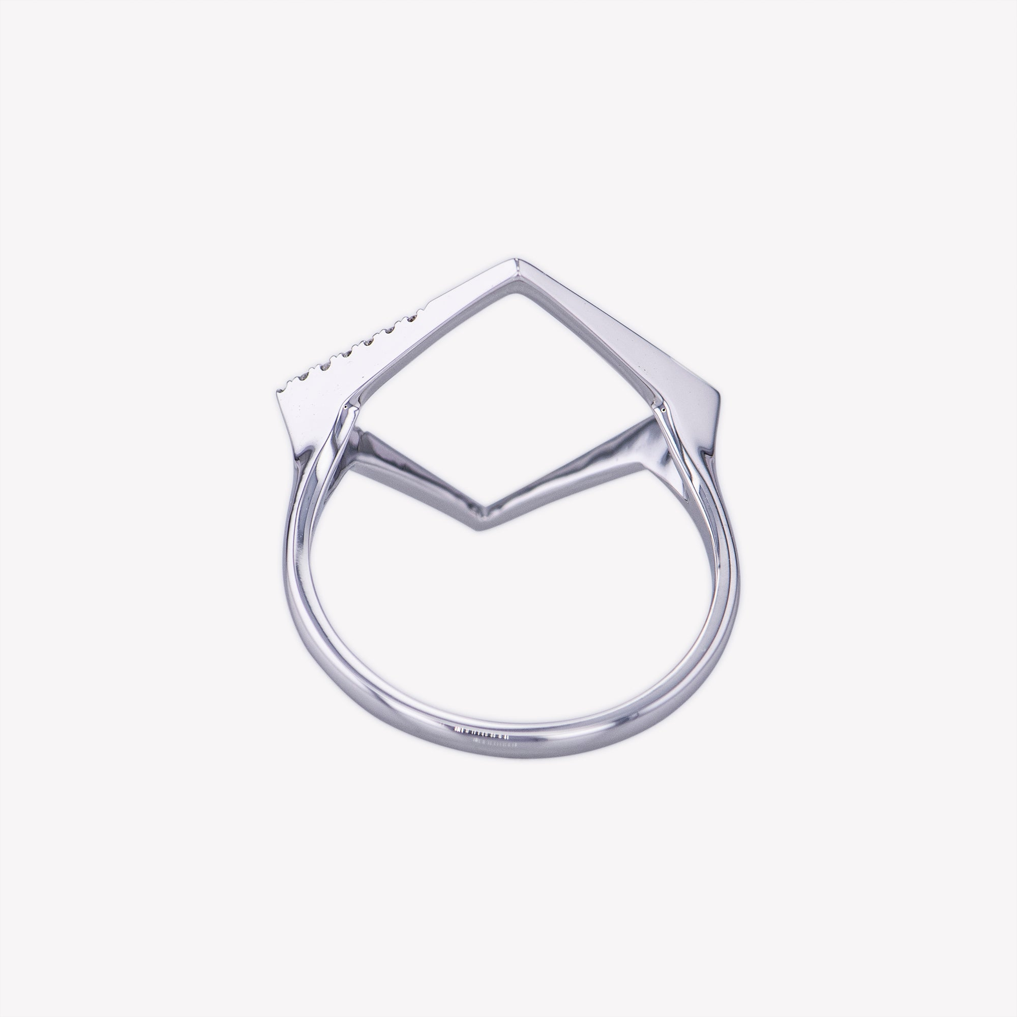 Square Ring in White Gold