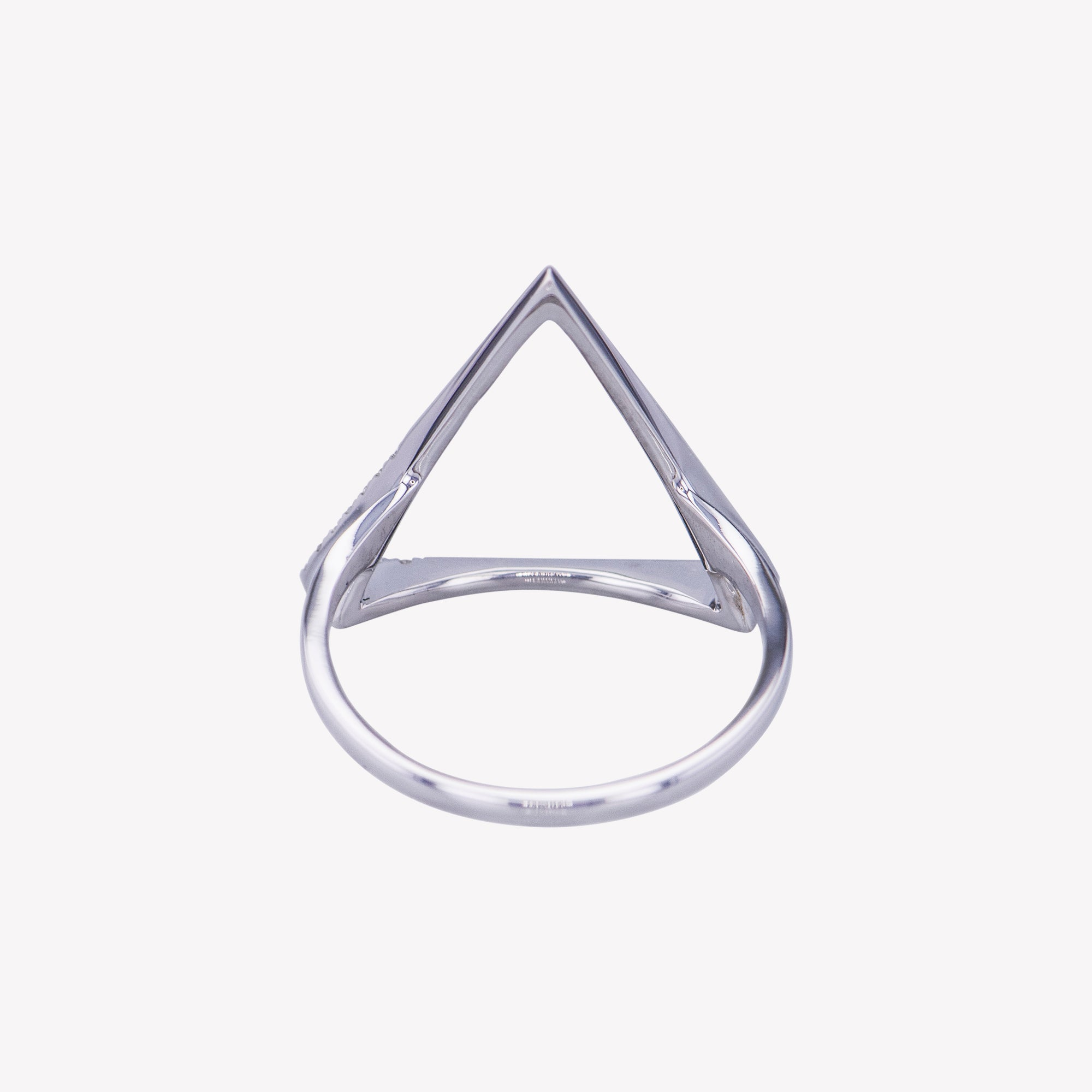Triangle Ring in White Gold