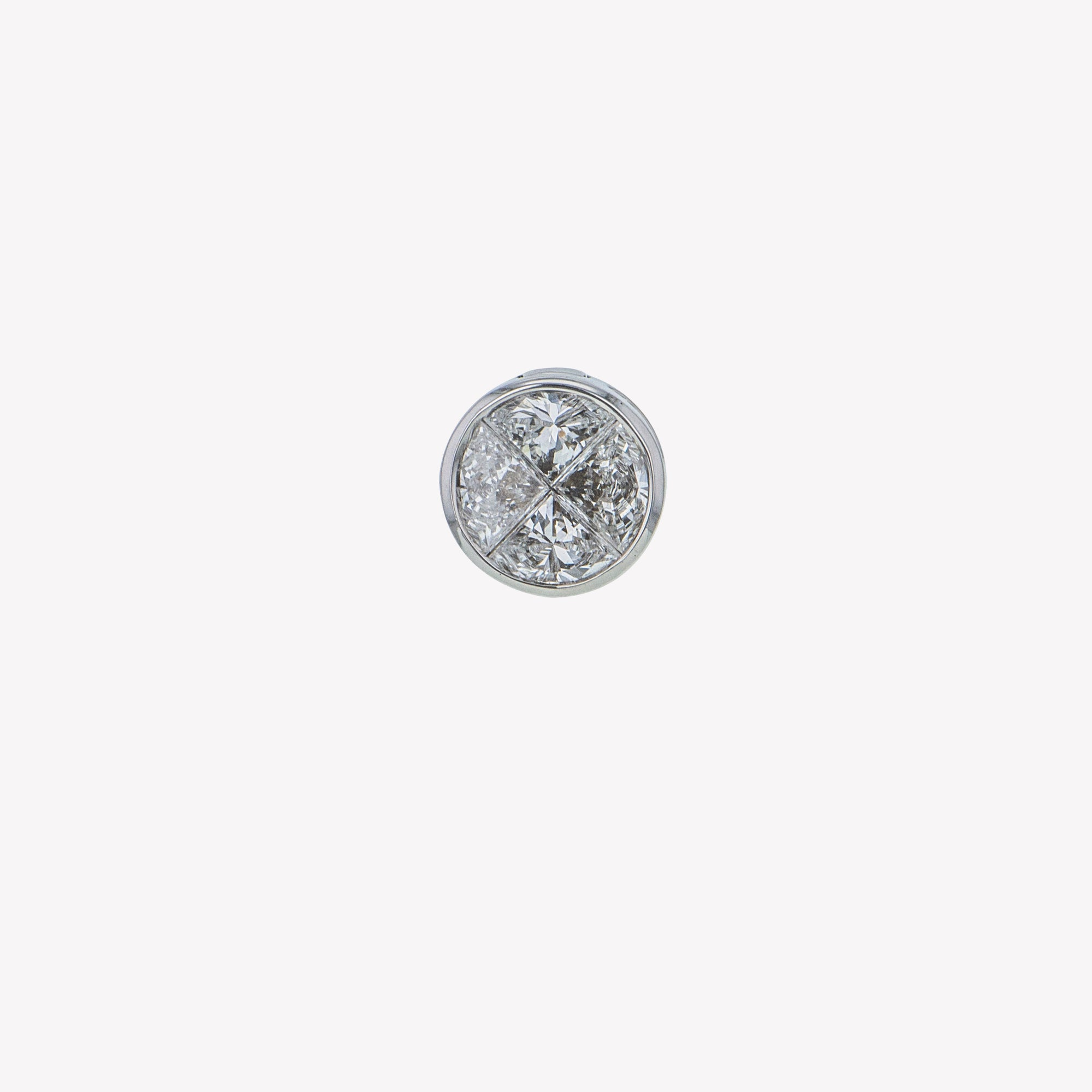 Detachable White Gold Round Head (Ring-to-Pendant)