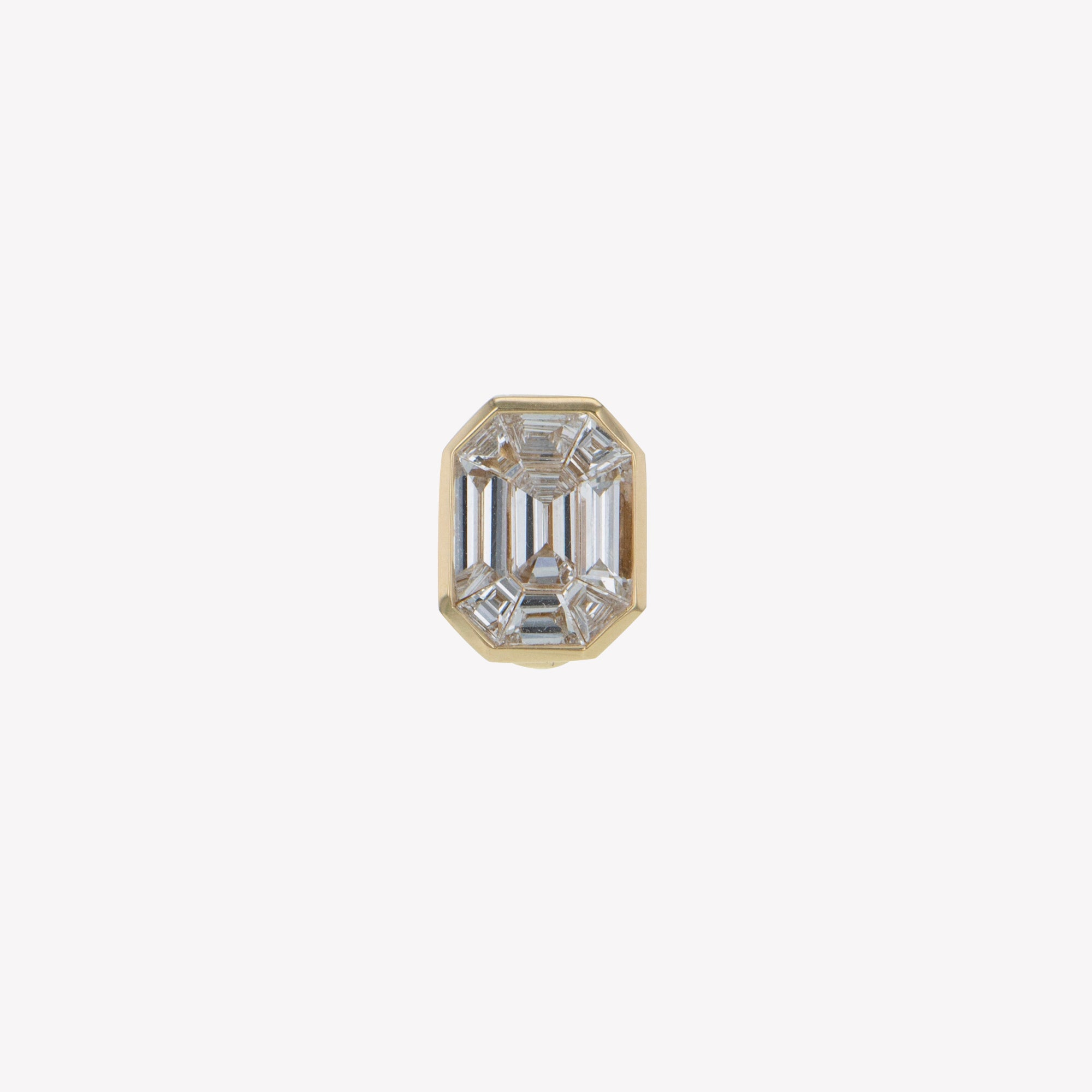 Detachable Yellow Gold Emerald Head with Round Band