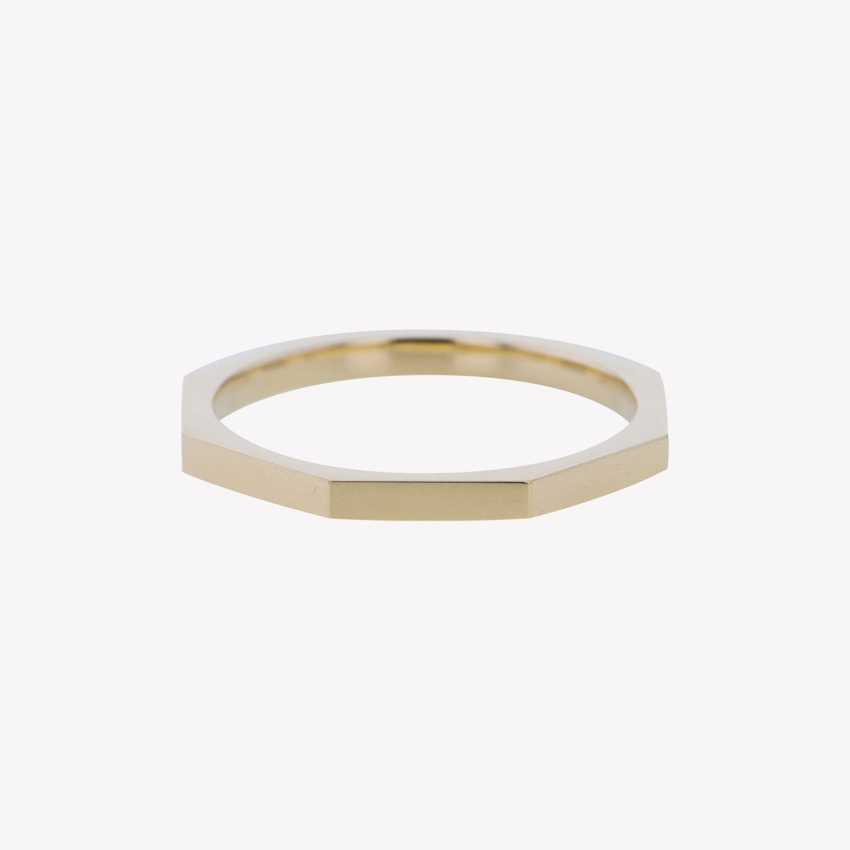 Yellow Gold Octa Stack Band