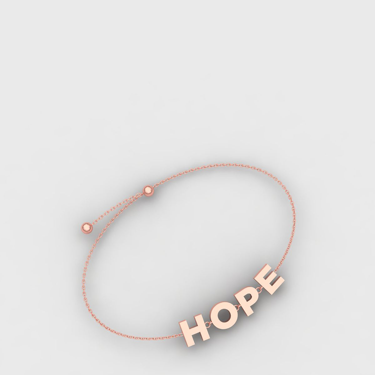 18k Rose Gold Hope Bracelet
