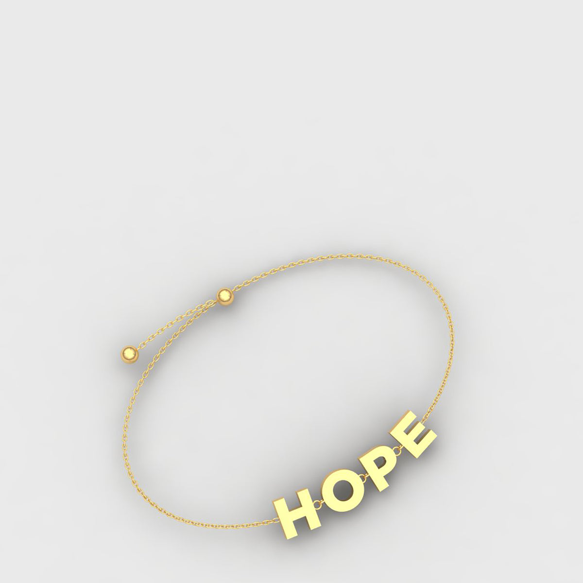 18k Yellow Gold Hope Bracelet