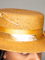 Load image into Gallery viewer, Day of Grace - Straw Boater Hat
