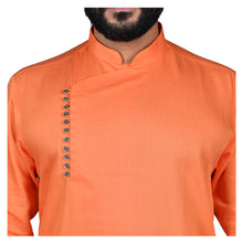 Load image into Gallery viewer, Ajay Arvindbhai Khatri Men's Executive Cotton Regular Stylish kurta Orange Colour