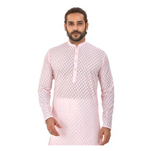 Load image into Gallery viewer, Ajay Arvindbhai Khatri Men's Pure Cotton Regular Brasso Kurta Light Pink Colour
