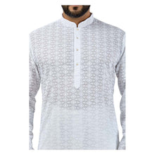 Load image into Gallery viewer, Ajay Arvindbhai Khatri Men's Pure Cotton Regular Chikankari embriodery kurta White Colour
