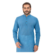Load image into Gallery viewer, Ajay Arvindbhai Khatri Men's Pure Cotton Regular Linning Kurta Royal_Blue Colour