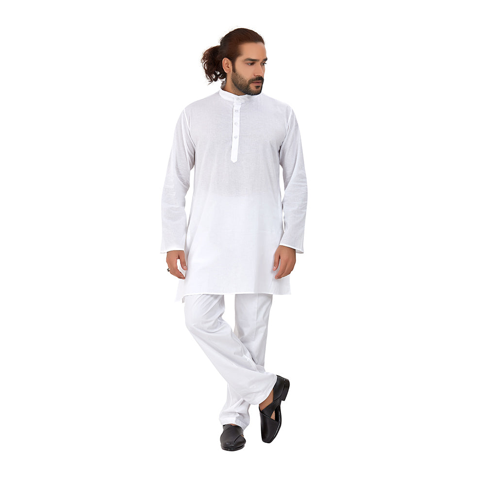 Ajay Arvindbhai Khatri Men's Pure Cotton Regular Night Wear Kurta Close Collar