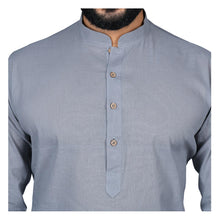 Load image into Gallery viewer, Ajay Arvindbhai Khatri Men's Pure Cotton Regular Handloom Kurta Grey Colour