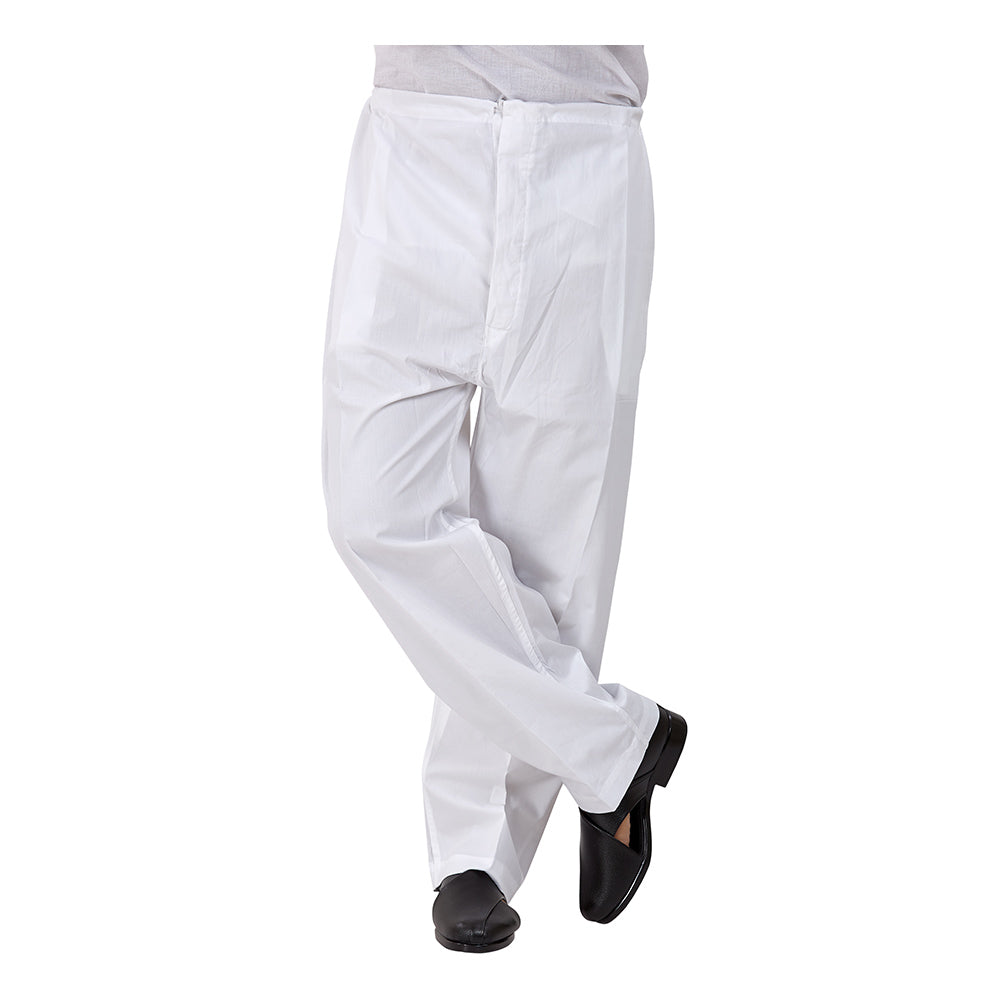 Ajay Arvindbhai Khatri Men's Pure Cotton Straight Pyjama white Colour