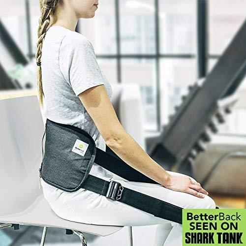 #1 Lower Back Support Posture Belt | Improves Posture & Eases Lower Back Pain While You Sit Down ( Use For Just 15 Mins A Day ) | BetterBack - As Seen On Shark Tank USA | For Men & Women