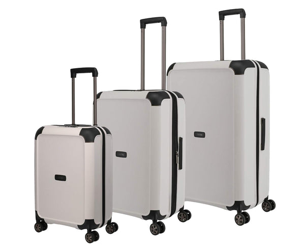 """COMPAX"" trolleys from TITAN: Sturdy Hard Shell suitcases with a Futuristic Look Available in 3 Colours"
