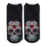♚ AIni Men'S And Women'S Socks, 2019 Hot Popular Funny Unisex Short Socks 3D Skull Expression Printed Anklet Socks Casual Socks, Comfortable And Beautiful