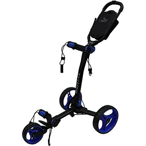 """LIMITED EDITION"" AXGLO TRILITE 3 WHEEL GOLF TROLLEY BLACK/BLUE & WHITE/BLUE +FREE £40.00 GIFT PACK (Black/Blue)"