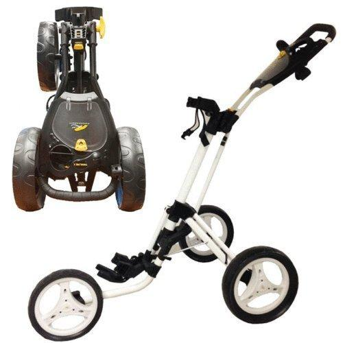 """NEW 2014"" POWAKADDY TWINLINE 4 GOLF TROLLEY WHITE"