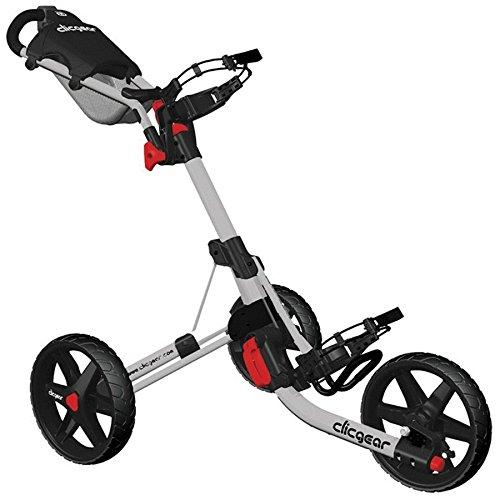 """NEW 2015"" CLICGEAR 3.5+ GOLF TROLLEY 3 WHEEL PUSH CART ALL COLOURS + FREE GIFT (Silver)"