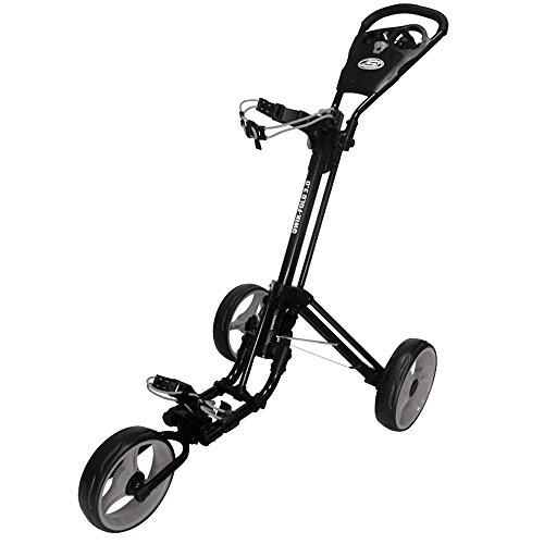 """NEW 2015"" SKY MAX QWIK-FOLD 3.0 3 WHEEL GOLF TROLLEY PULL / PUSH CART (Black/Charcoal)"