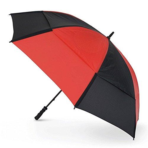 """NEW 2016"" GUSTBUSTER PRO GOLF UMBRELLA +LIFETIME WARRANTY #1 BRAND ON TOUR !!!! (Black/Red)"
