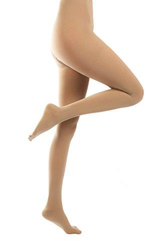 ®BeFit24 Medical Graduated Compression Support Tights (18-21 mmHg, 90 Denier, Class 1) for Women - Best Pantyhose for Flight and Travel - DVT, Varicose and Spider Veins Prevention, Swelling Reduction