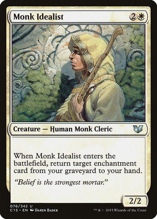 Monk Idealist [Commander 2015] | Mothership Books and Games TX