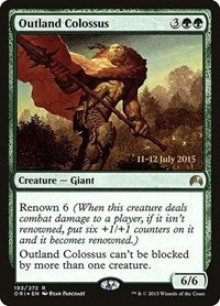 Outland Colossus [Magic Origins Promos] | Mothership Books and Games TX
