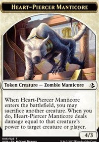 Heart-Piercer Manticore Token [Amonkhet Tokens] | Mothership Books and Games TX