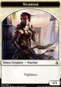 Warrior Token [Amonkhet Tokens] | Mothership Books and Games TX