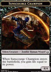 Sunscourge Champion Token [Hour of Devastation Tokens] | Mothership Books and Games TX