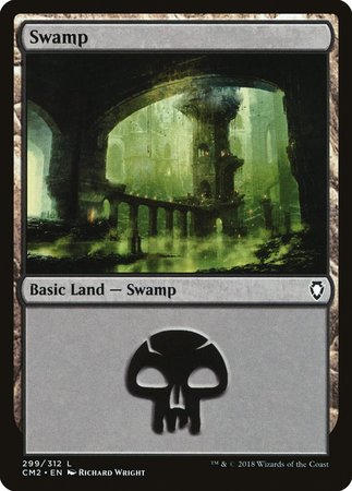 Swamp (299) [Commander Anthology Volume II] | Mothership Books and Games TX