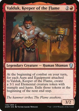 Valduk, Keeper of the Flame [Dominaria] | Mothership Books and Games TX