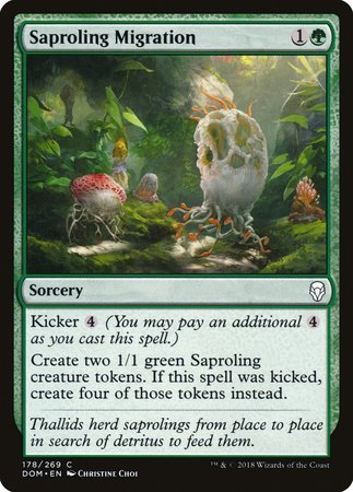 Saproling Migration [Dominaria] | Mothership Books and Games TX