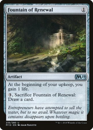 Fountain of Renewal [Core Set 2019] | Mothership Books and Games TX
