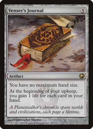 Venser's Journal [Scars of Mirrodin] | Mothership Books and Games TX