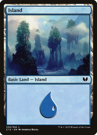Island (330) [Commander 2015] | Mothership Books and Games TX