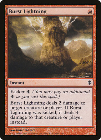 Burst Lightning [Zendikar] | Mothership Books and Games TX